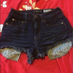 Aeropostale 0 short highwaist denim frayed shorts